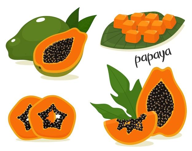 Allegagione a fette di papaia