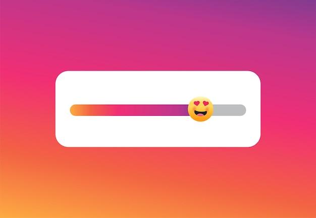 Slider emoji instagram