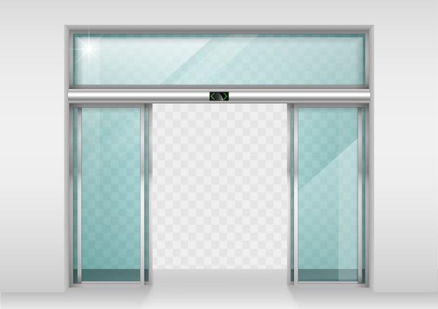 Porte automatiche scorrevoli in vetro Vettore Premium
