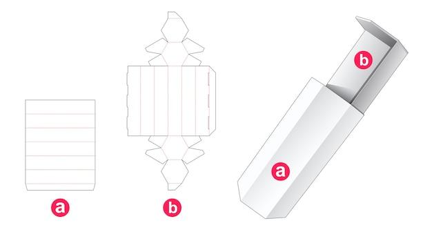 Dima fustellata scatola esagonale scorrevole