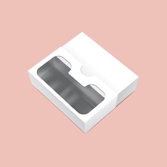 Confezione scorrevole con finestra mock up