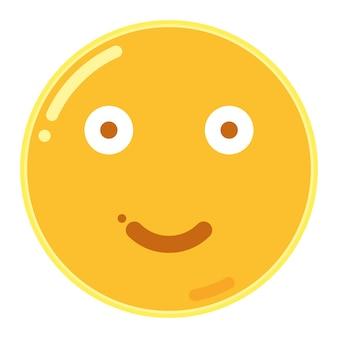 Emoticon leggermente sorridente