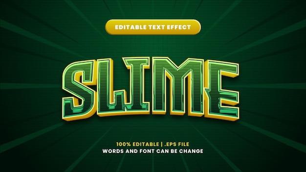 Effetto testo modificabile slime in moderno stile 3d