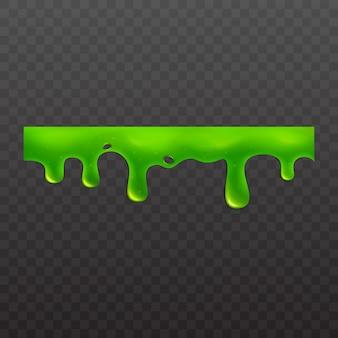 Illustrazione liquida tossica appiccicosa della melma o appiccicosa su fondo bianco.