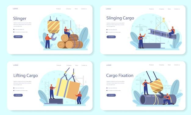 Banner web slinger o set di pagine di destinazione