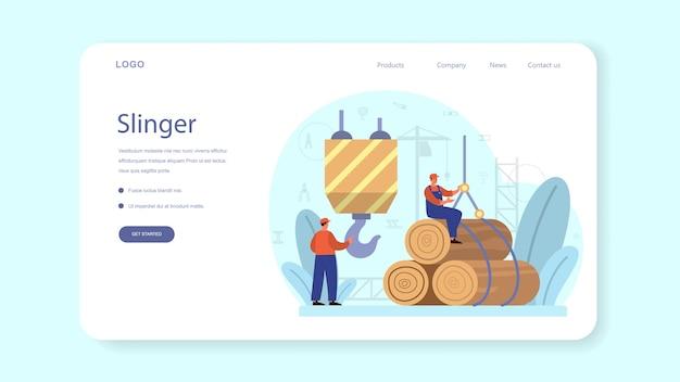 Banner web o pagina di destinazione di slinger