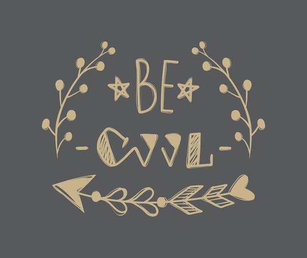 Stampa vettoriale di slogan. sii figo. ideale per t-shirt da ragazza, tessuto, grafica alla moda.