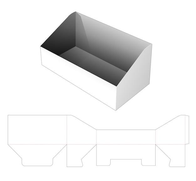 Modello fustellato per vassoio di imballaggio inclinato