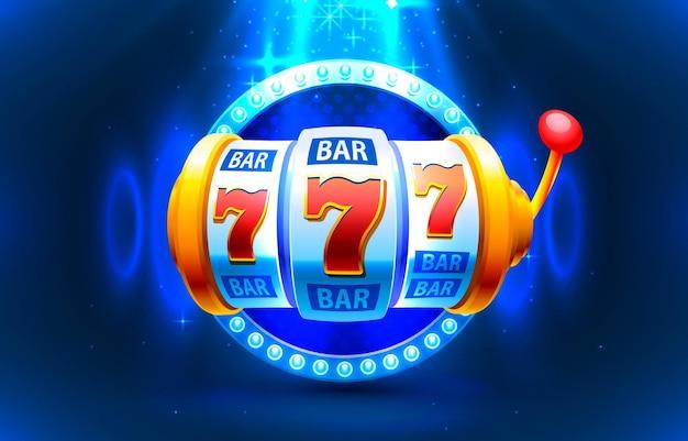 Le monete della slot machine vincono l'illustrazione del jackpot