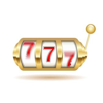 Slot machine. poster della macchina da gioco con jackpot.