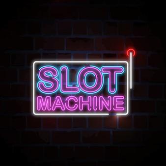 Illustrazione dell'insegna al neon delle slot machine