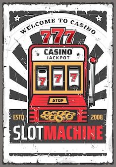 Slot machine con jackpot vincente 777. gioco da casinò