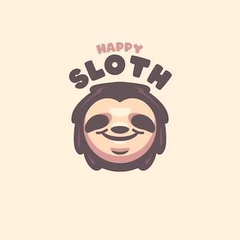 Logo del fumetto testa di bradipo per la tua azienda