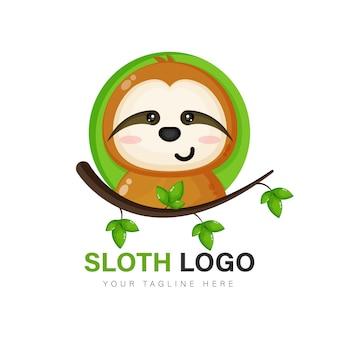 Vettore di progettazione di logo di bradipo