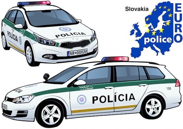 Auto della polizia slovacca
