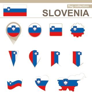 Collezione bandiera slovenia, versioni