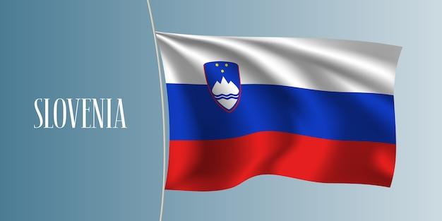 La slovenia sventola bandiera illustrazione