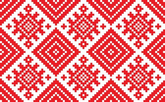 Ornamento tradizionale sloveno. sfondo senza soluzione di continuità