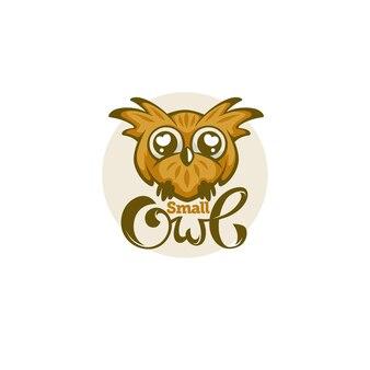 Piccolo e simpatico gufo per il tuo logo con composizione scritta