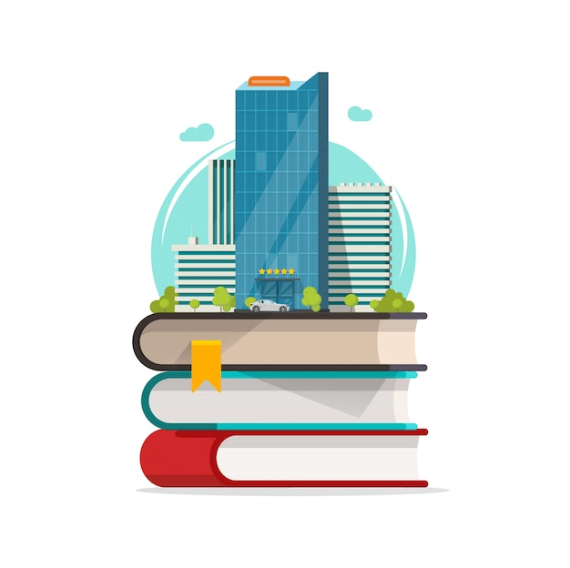 Fumetto dell'icona di concetto di città intelligente
