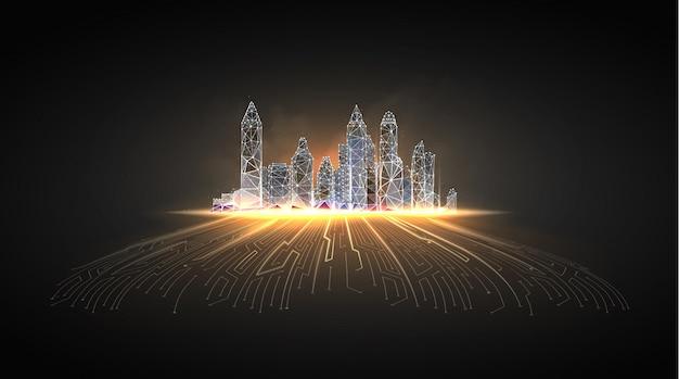 Città intelligente o edificio intelligente.