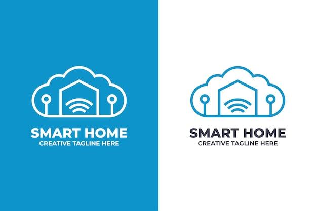 Logo aziendale di tecnologia per la casa intelligente