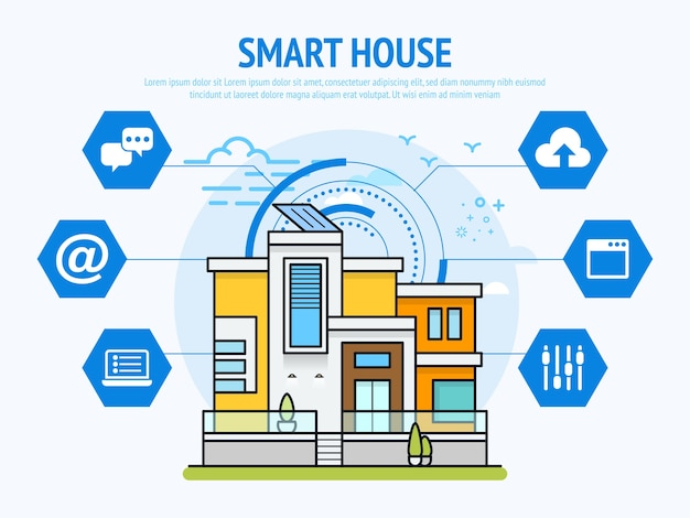 Tecnologia smart house del concetto di automazione domestica