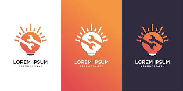 Modello di logo idea intelligente con un concetto moderno