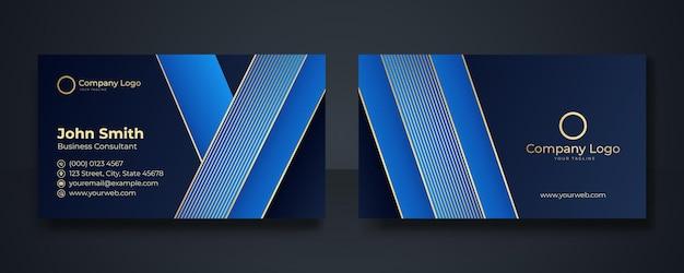 Biglietto da visita moderno e intelligente, illustrazione vettoriale, sfondo blu scuro