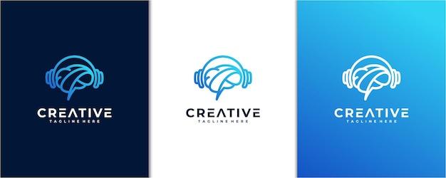Ispirazione del logo di musica intelligente