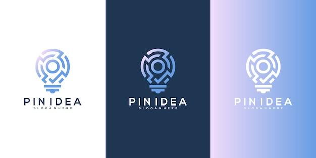 Ispirazione per il design del logo delle mappe di localizzazione smart pin