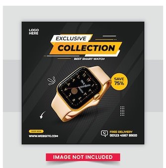 Smart watch post sui social media o modello di post su instagram