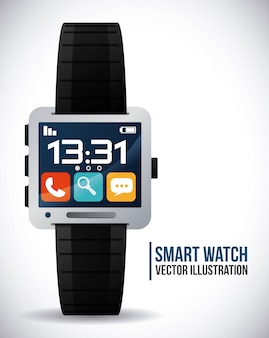 Orologio intelligente Vettore Premium