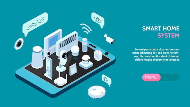 Banner web orizzontale del sistema smarthome