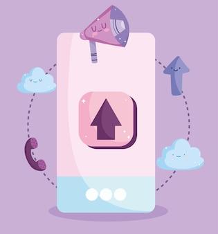 Cartone animato app per smartphone