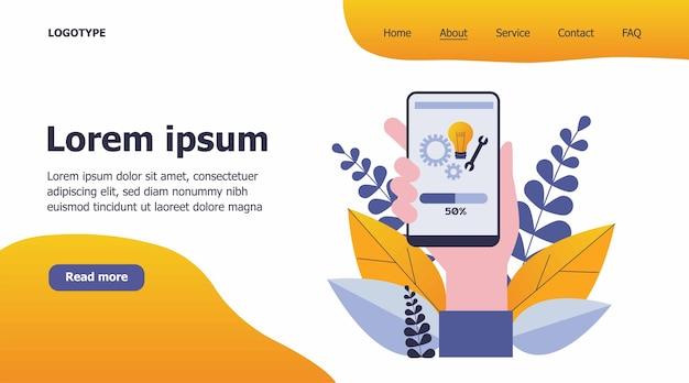 Illustrazione di installazione dell'app per smartphone