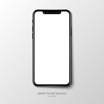 Mockup di schermata dell'applicazione per smartphone su baclground grigio