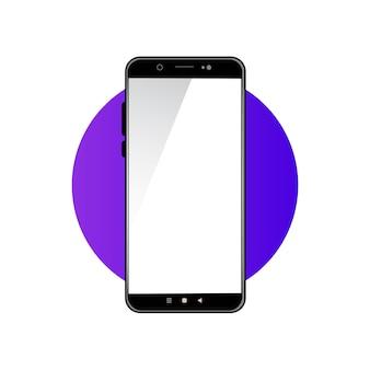 Smartphone con schermo vuoto