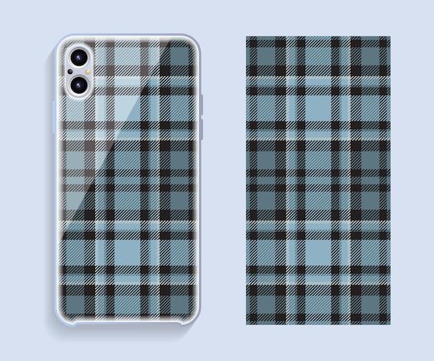 Design della custodia per smartphone. motivo geometrico per la parte posteriore del telefono cellulare. design piatto.