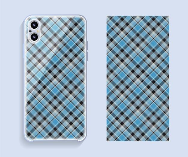 Design della custodia per smartphone. motivo geometrico per la parte posteriore del telefono cellulare