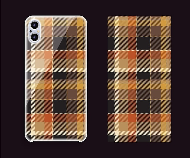 Mockup di design della copertina dello smartphone. modello geometrico modello per parte posteriore del telefono cellulare. design piatto.