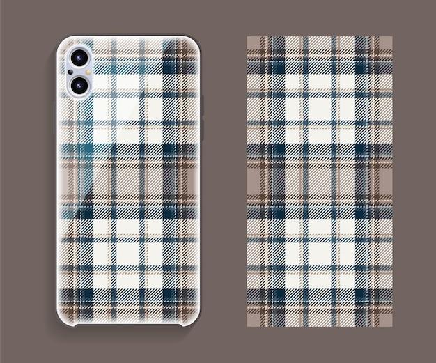Smartphone cover design modello modello per parte posteriore del telefono cellulare.