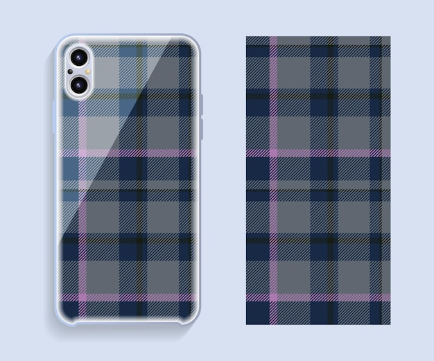 Modello di vettore di progettazione della copertura dello smartphone. modello geometrico per la parte posteriore del telefono cellulare. design piatto.