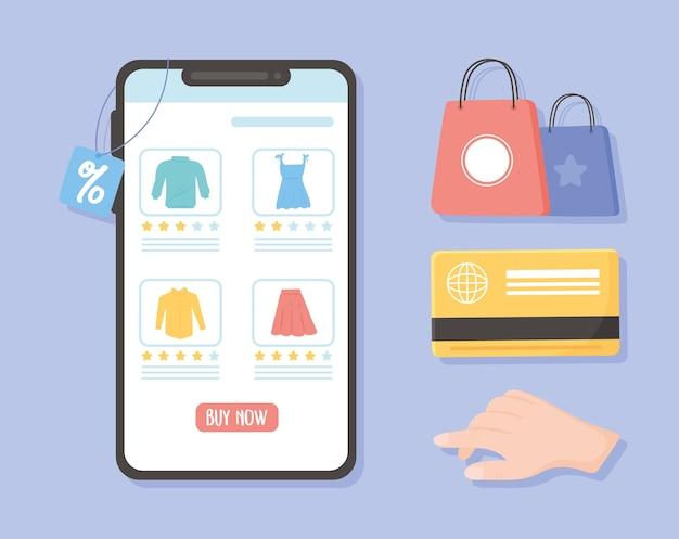 Mercato dell'e-commerce per smartphone