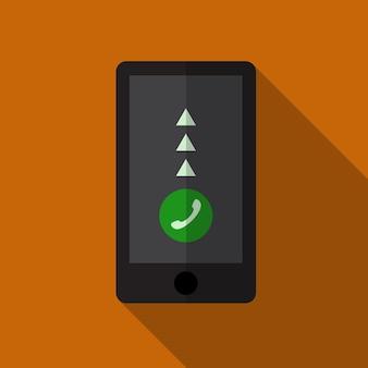 Smartphone piatto icona illustrazione vettoriale isolato segno simbolo