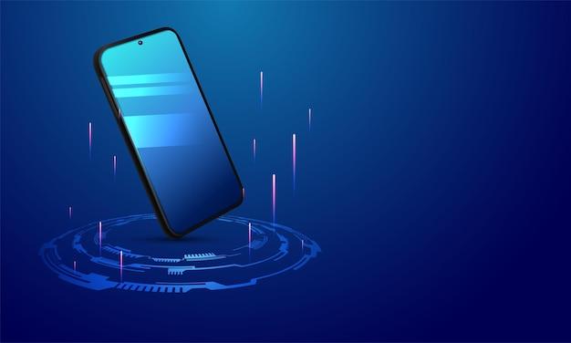 Schermo dello smartphone meno schermo vuoto
