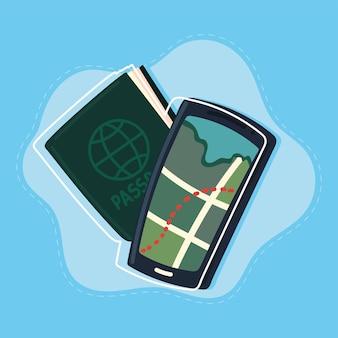 Passaporto con mappa gps per smartphone