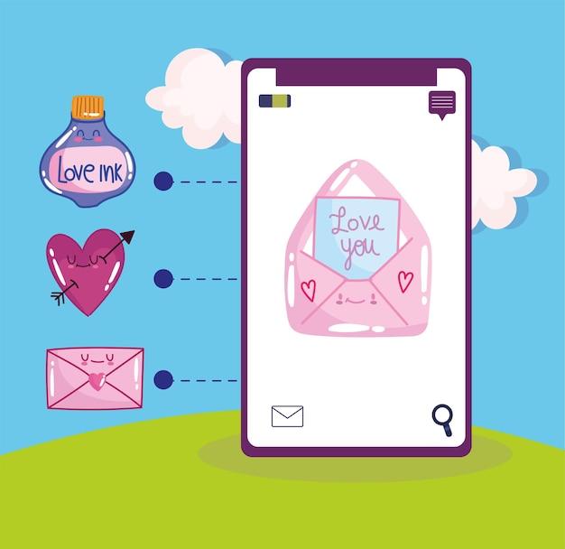 Messaggio d'amore per smartphone