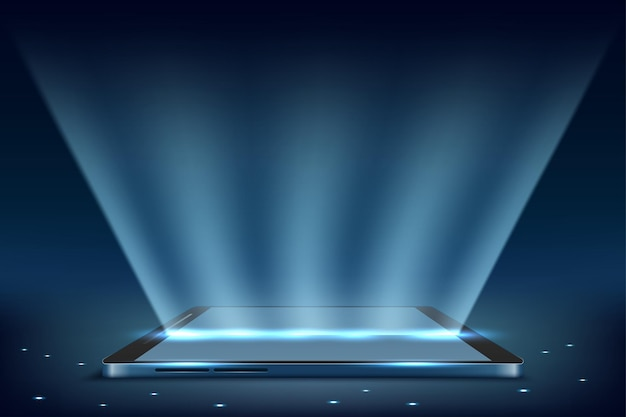 Schermo mobile per smartphone con luce display tecnologia mobile
