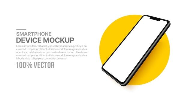 Modello di smartphone per lo sviluppo di app e la progettazione di un cellulare isolato per il modello di presentazione